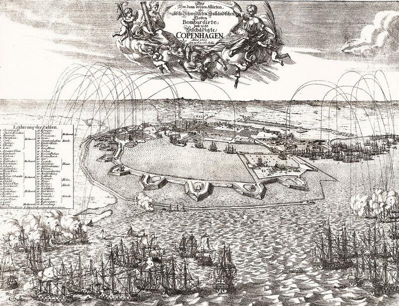 Бомбардировка Копенгагена, 1700 год. commons.wikimedia.org - Минус один союзник | Warspot.ru